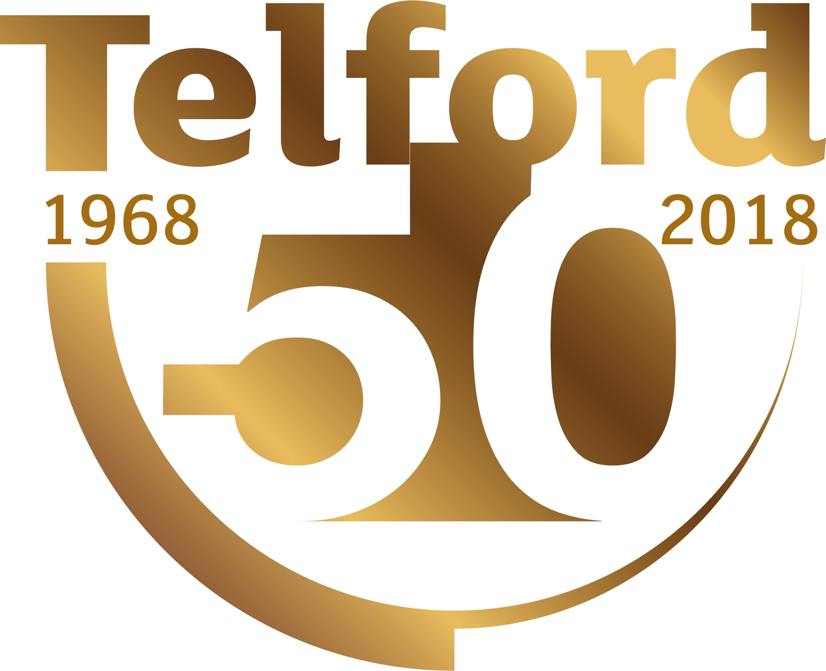 Telford 50 logo final gold