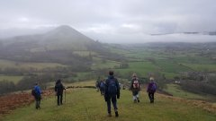 Caradoc from Lawley, above the couds